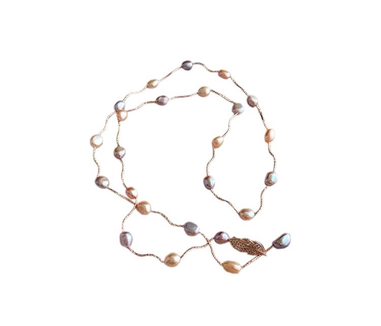 珍珠毛衣鏈