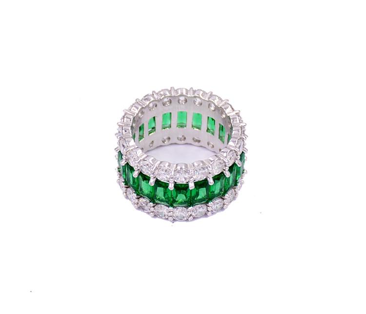 個性滿鉆指環戒指