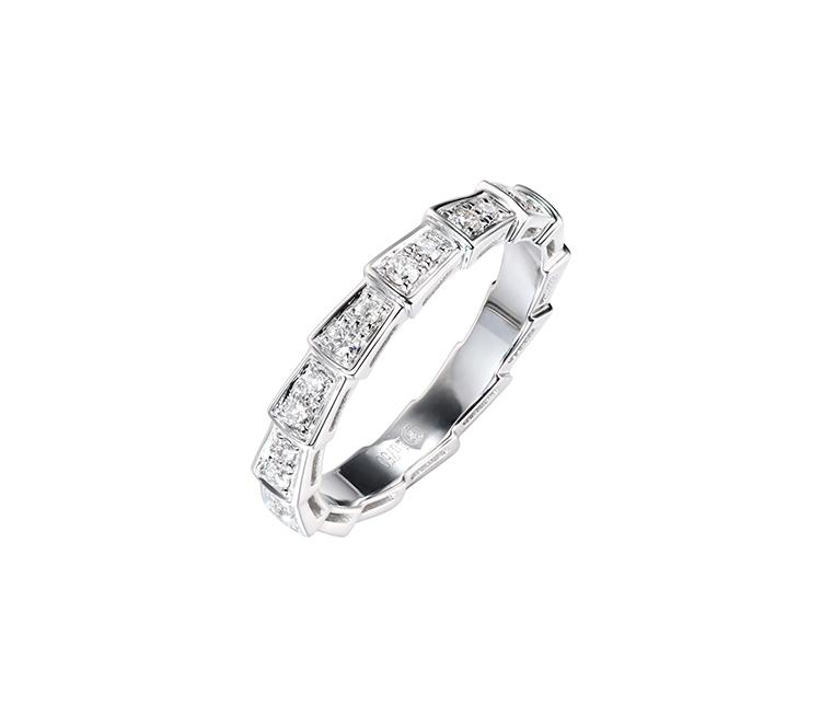滿鉆排戒指環銀戒指