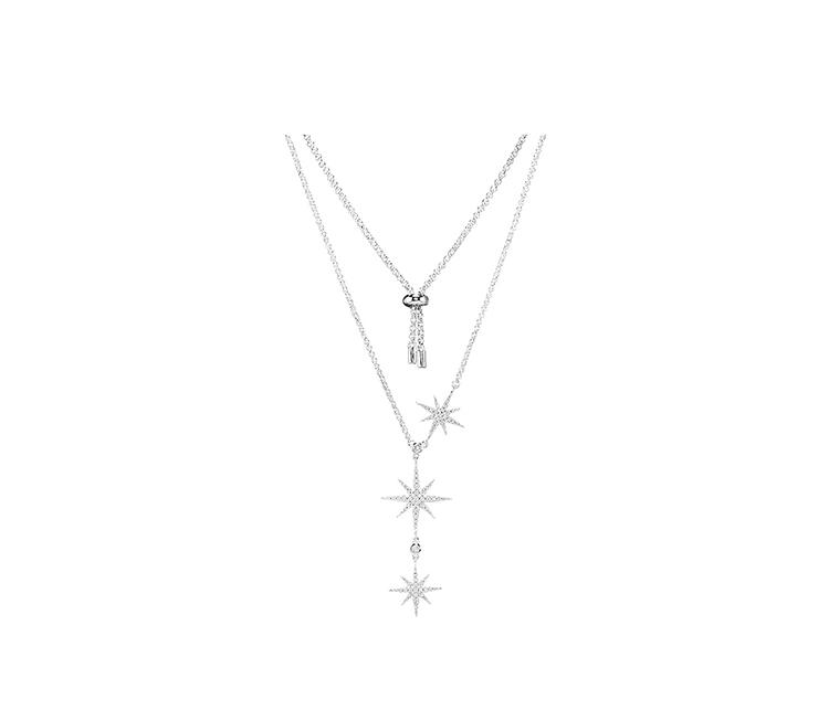 925銀米字星星項鏈