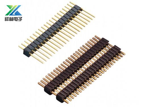 1.27排针 塑高2.0 单排 单塑双塑