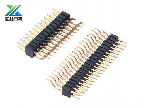 1.27排针 双排 单塑 卧式SMT