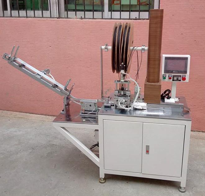 半自動穿熱縮管機線材穿套管收縮機自動送料裁斷套管機烘烤縮管機
