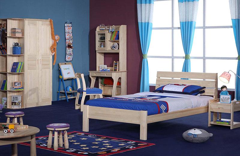 哈尼贝贝原木儿童套房家具