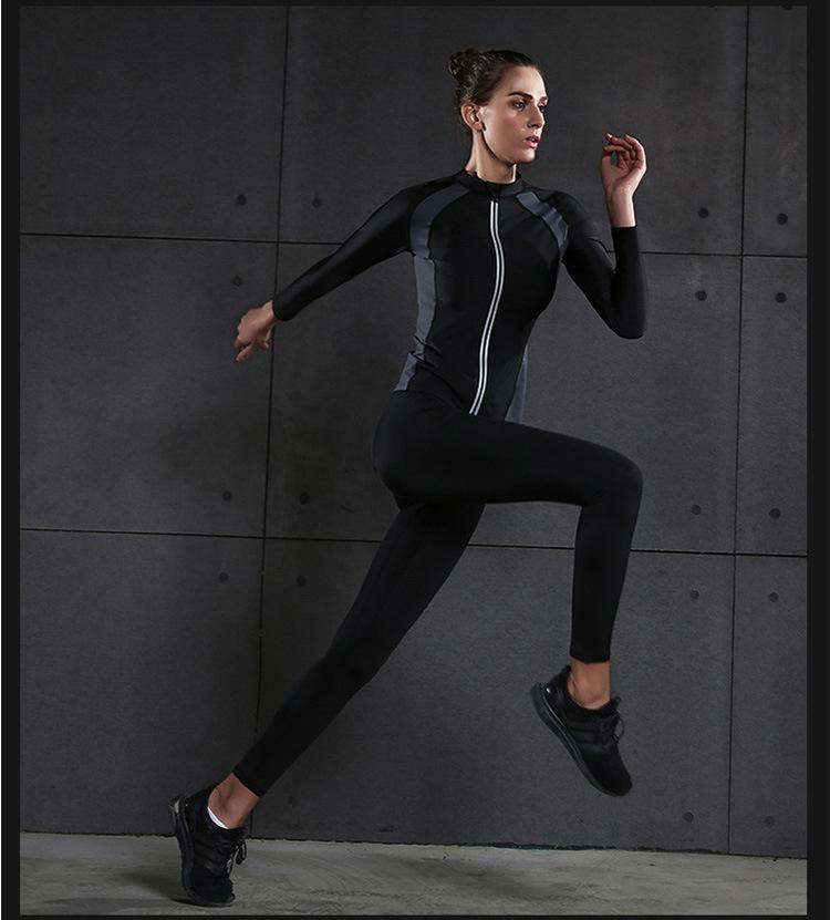 新款暴汗服减脂运动跑步女套装