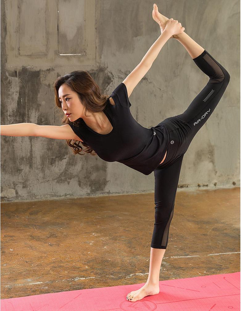 时尚速干跑步健身服 背心长裤女式运动休闲套装