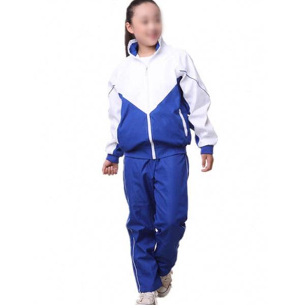 蓝白校服制作