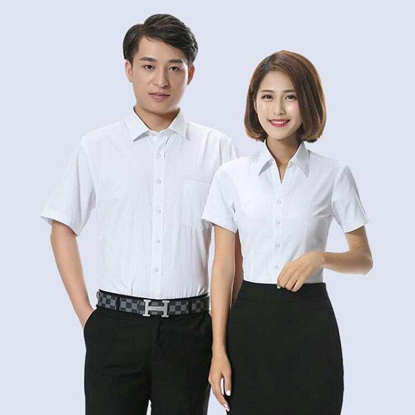 白色职业短袖装