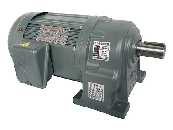 100W卧式齿轮减速电机(28轴250~1800比)
