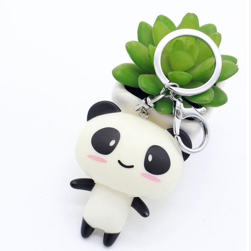 搪膠熊貓鑰匙鏈