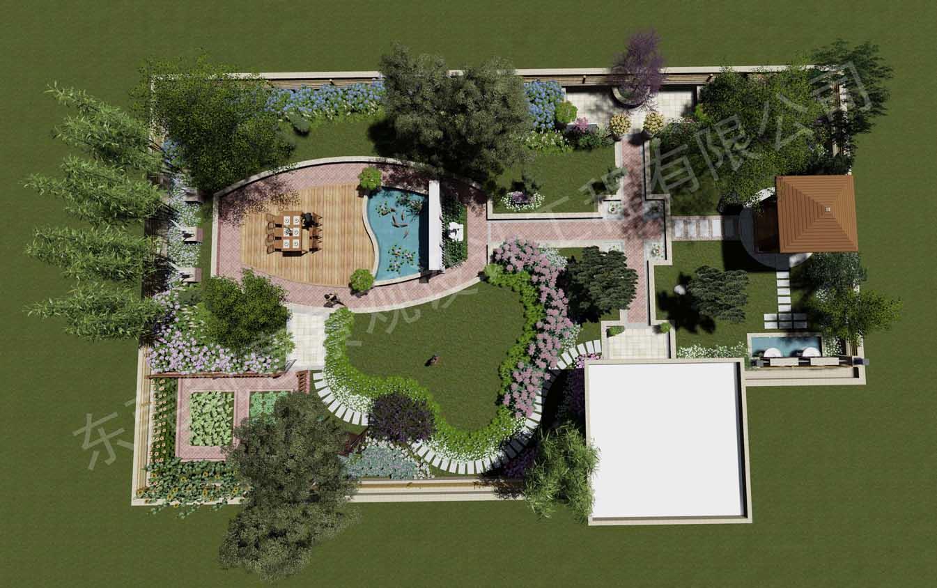 朱先生屋顶花园景观设计方案|别墅花园设计|园林景观设计|筑意景观