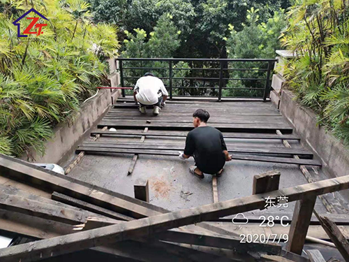 東莞松山湖喜悅酒店二樓陽臺補漏施工