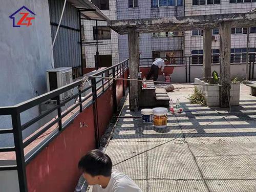 東莞虎門永康街屋面女兒墻補漏案例