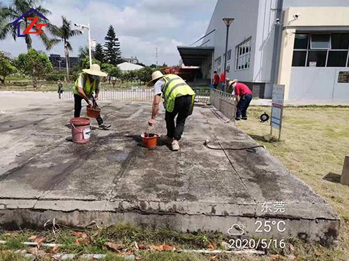 東莞南城海金杜門污水池蓋板整體補漏工程