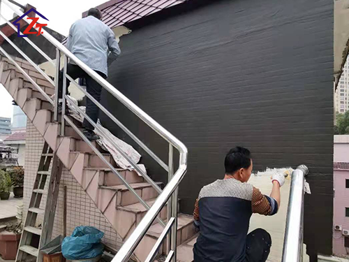 東莞莞城橫正中路32項8號樓頂樓梯間補漏工程