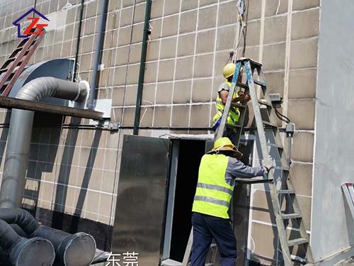 徐福記廠房外墻補漏工程,施工面積約2300㎡。