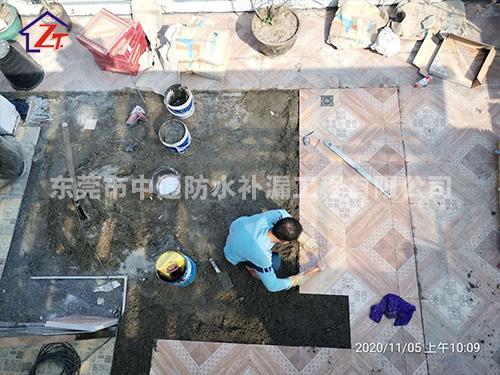 东莞天利中央花园阳台补漏施工案例