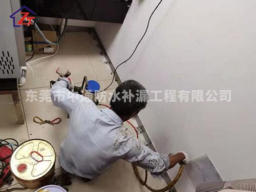 东莞南城景湖春晓洗手间免砸砖补漏案例