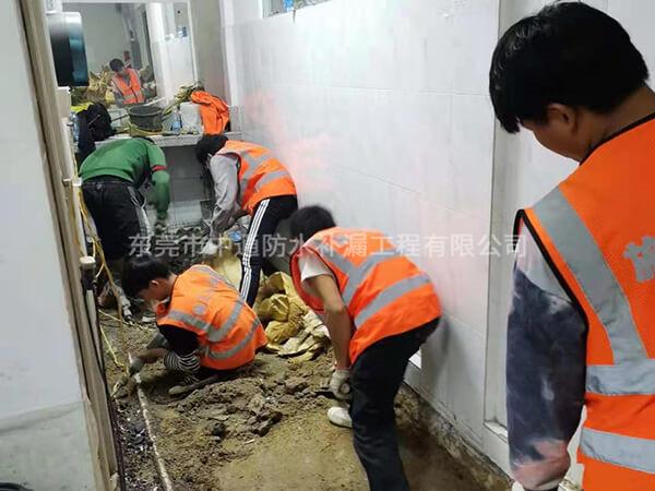 东莞市宜安科技股份有限公司办公楼所有集体卫生间严重漏水,全部进行升级防水系统,更换管道,工程数量:男女厕所合计34个