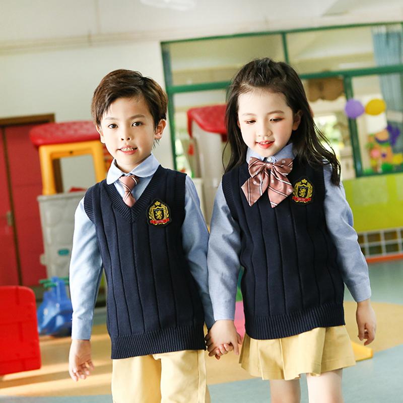 運動款兒童校服定做廠家_凡歌服飾_加絨_英倫風_高品質_文化衫