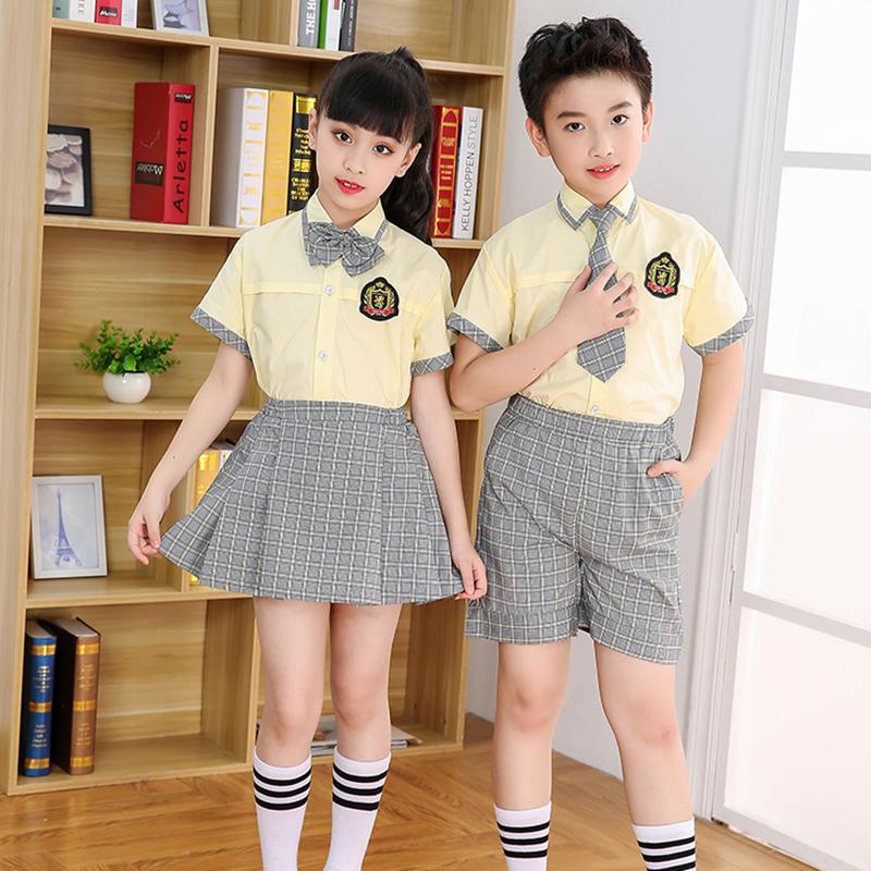 西裝_拉鏈款夏季小學校服供應_凡歌服飾