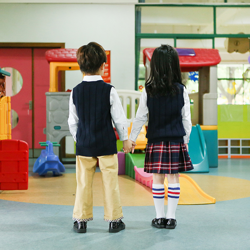 學院風兒童校服型號_凡歌服飾_幼兒園_新款_冬季_學院風_體育
