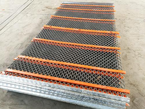 錳鋼加聚氨酯篩網