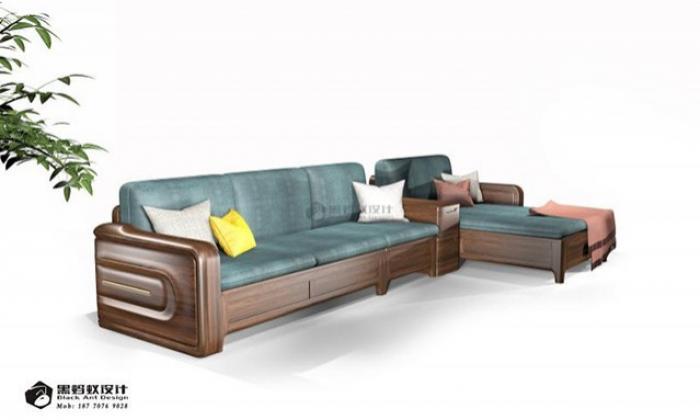金丝檀木沙发