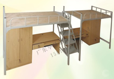 HK-G015两张连体钢制公寓床
