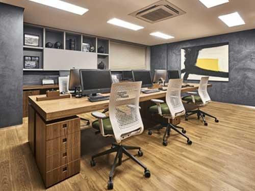 莞城辦公室裝修哪里找 崀山裝飾 大型 廠房 現代 社區 實用