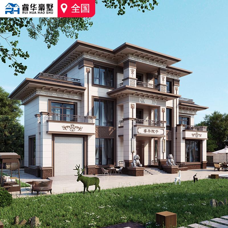 睿德NC71 新中式別墅 中式別墅 新中式設計方案 鄉墅 自建房 附帶地下室電梯的別墅