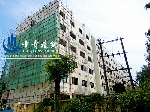 东莞旗峰山物业管理办公楼加层改造加固工程