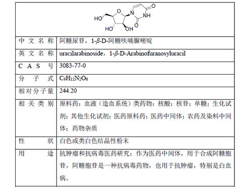 1-β-D-阿糖呋喃尿嘧啶