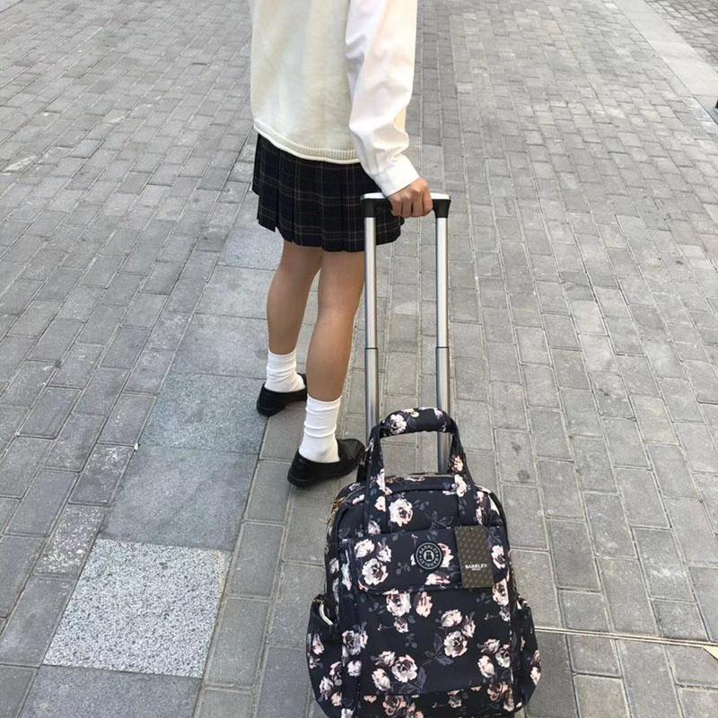 商務_萬向輪印花拉桿袋批發商_勵欣箱包