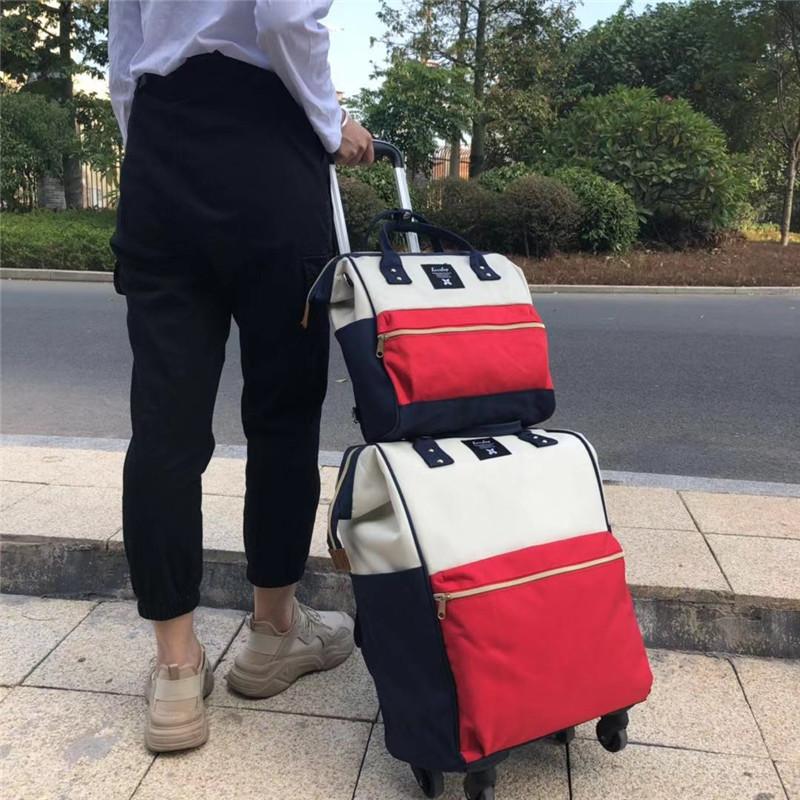 運動印花拉桿袋銷售廠家_勵欣箱包_短途旅行_折疊_20寸_可折疊