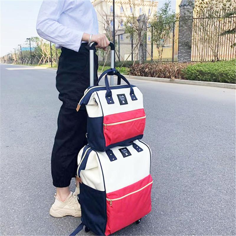 簡約_購物印花拉桿袋廠家生產銷售_勵欣箱包