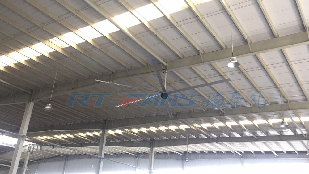 廠房降溫通風,工業風扇低轉速灰塵不上楊