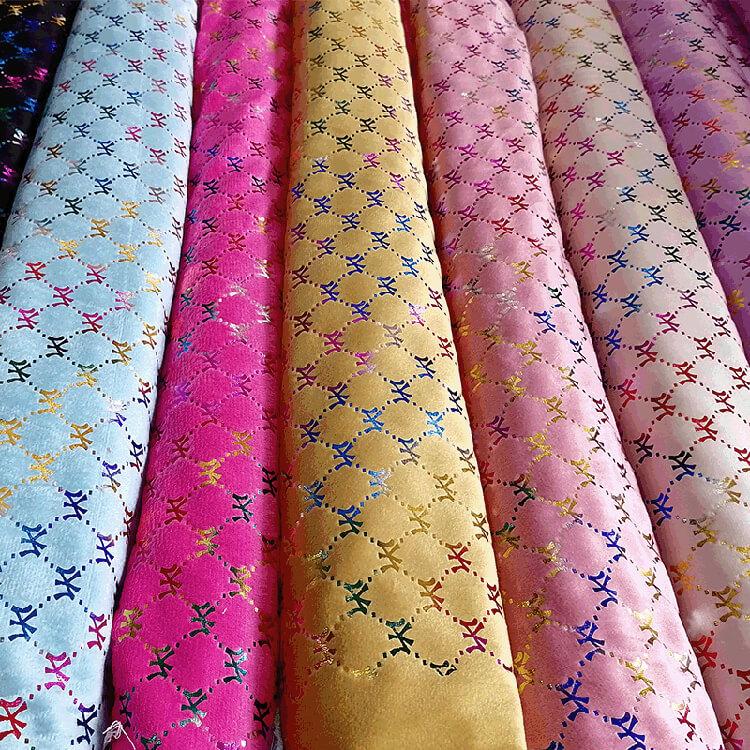 K2911多彩印花绒布