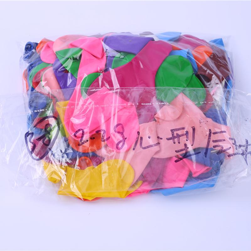 健身房橡胶气球生产厂家供应_飘红商贸_纸屑填充_生日派对_纯色