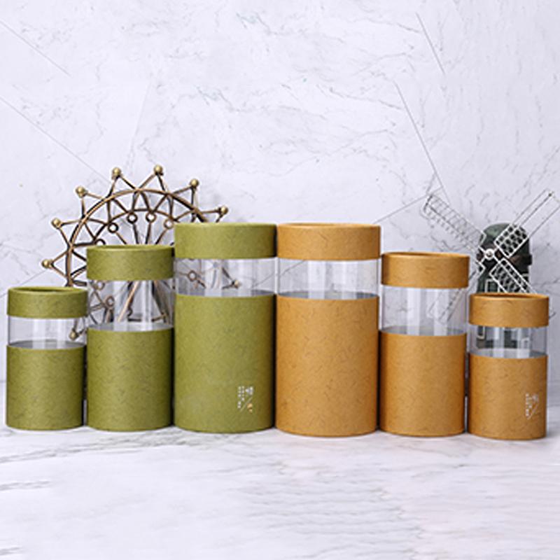 空罐子_綠茶透明茶葉紙罐來色定制_勝翔