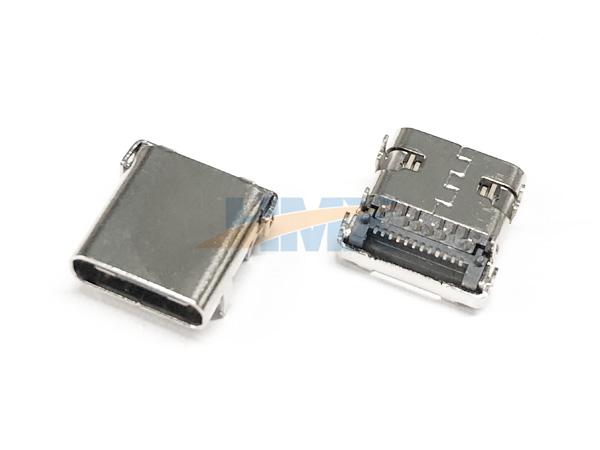 USB-3.1-C-TYPE母頭板上L=9.8外殼無彈片連接器