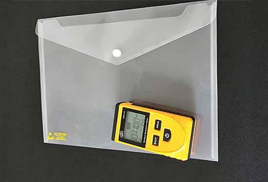 订制防静电文件袋生产商_恒升防静电_A4_esd_拉链袋_钮扣袋