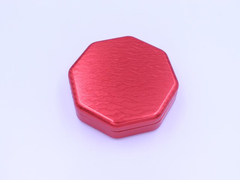 紅色浮雕花紋藥盒
