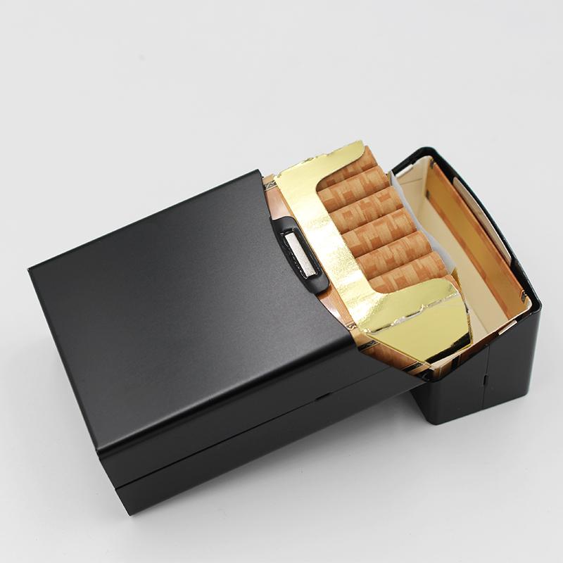 創新鋁煙盒哪里打樣_弘登金屬_充電_抗壓_女式_創意_男式_防塵