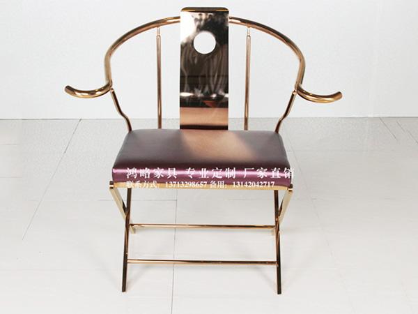 不锈钢现代中式太师椅