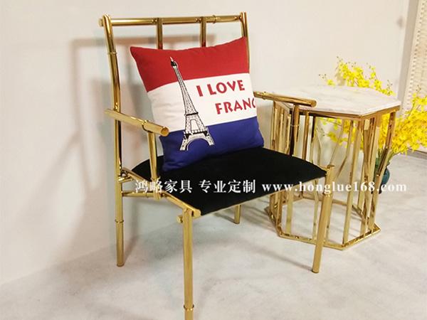 不锈钢竹节椅休闲椅餐椅