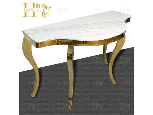 金属弧形条案墙边桌