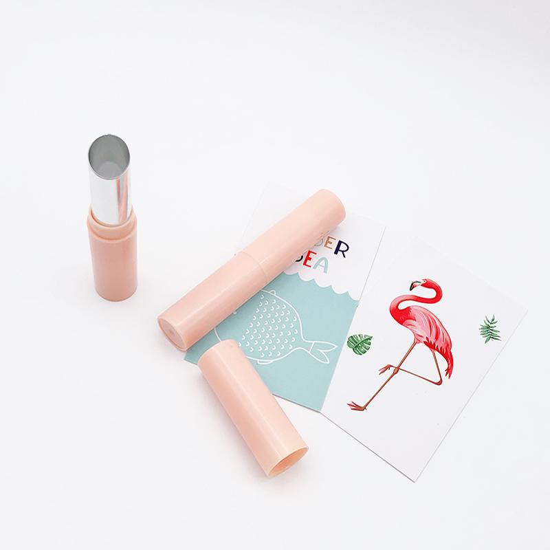 圆形新款_斜口塑胶口红管厂家销售_泓泽化妆品