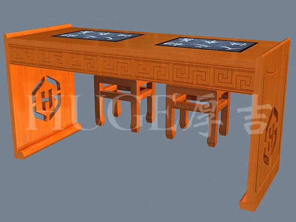 书法教室临幕学生桌