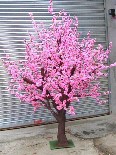 室内景观装饰桃花树,品名:桃花树,材料:树杆(玻璃钢材质),叶子(仿真叶